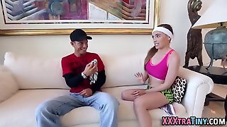 Sporty Teen Gets Oral
