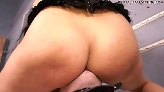 He Licks The Cunt Of Curvy Facesitting Mistress