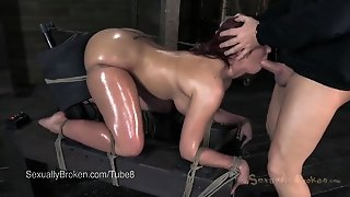 Kelly Divine's Ass Strapped Down To Sybian