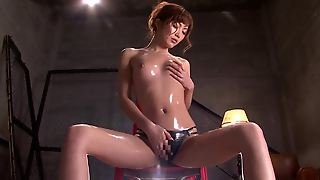 Rina Kato Oils Up Her Body As She Masturbates To Orgasm