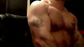 Str8 Muscle Dudes Flexing And Jerking