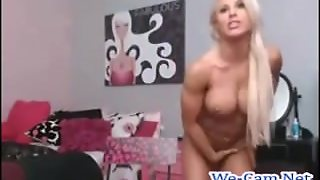 Cam, Masturbating, Shaved Pussy, Dildo, Close Up, Blonde, Ass Shaking, Amateur, Big Tits, Muscle Girl, Dancer