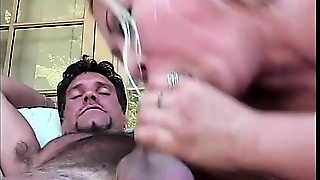 China Doll Gives A Deep Blowjob To A Hairy As Fuck White Dude