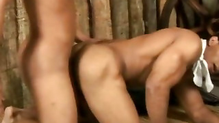 Gay Cumming After Muscled Bareback Sex