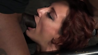 Red Haired Girl In The Dungeon Gets Mouth Fucked