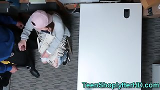 Teen Shoplifter Handjob