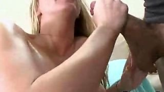 Blonde Babe Sucks Dick