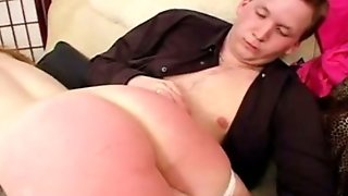 Spanked In The Ass Til Red
