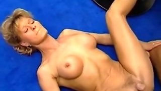 Horny German Mature Fucked On A Sofa