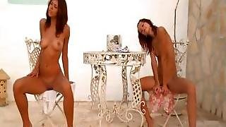 Two Spanish Chicks Naked Outdoor