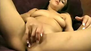 Girl With Nice Natural Tits Takes A Toy Solo