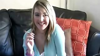 Katie K Relaxes At Home... Then Gets Naughty