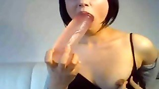 Fuck German Bitch Thick Dildo In Her Mouth Almost Puked