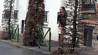 French Redhead Teen Banged In Public