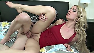 Brother Fucks On The Bed His Busty Stepsister