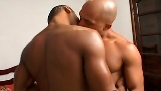 Sexy Black Gay Licking Ass