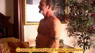 Granny Gets Some Co_Ed Pussy While Hubby Sleeps