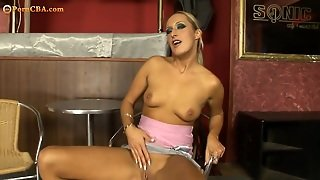 Young Blond Teasing Herself Hd