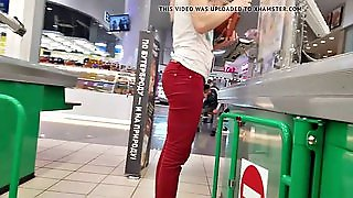 Ass In Red Pants