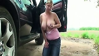 Tit Fucking By The Car