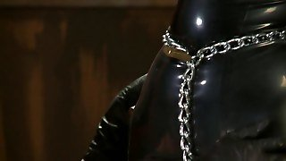 Big Boobs Blonde Chained