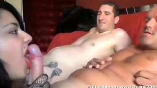 Sexy Maid Fucked Hard By A Couple Of Guys