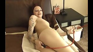 Girl Loves Enema Nozzle