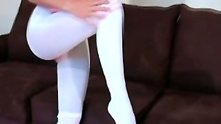 Fingering, Blonde Solo, Solo Nylon, Instructor, Teases, Blonde Babe Solo, Nylon Blonde, Nylo N