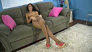 August Ames Pantyhose Tease