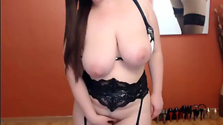 Amazing Chubby Bbw Teen Shows Her Huge Natural Tits