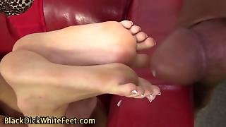 Feet Cum By Black Cock