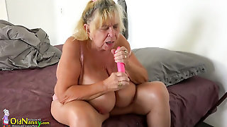 Oldnanny Teen Fucked Old Busty Mom With Strapon