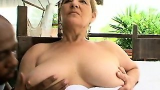 Old Chick With Huge Tits!