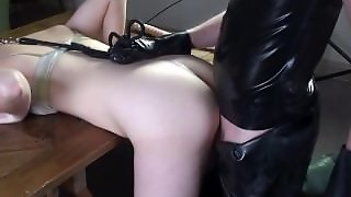 Rubber Slave In Rubber Waders Getting Fucked By Rubber Master