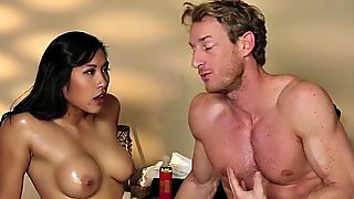 Massaged Asian Spunked