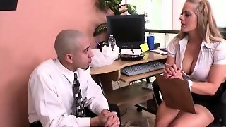 Big Titty Blond Boss Needs Sex