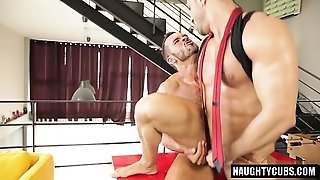 Hairy Gay Flip Flop And Facial