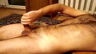 Hairy Hunk Handjob And Cumming
