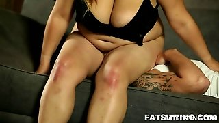 Fat Mistress Face Sitting On Her Boy Toy