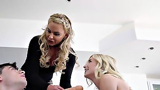 Milf With Strap On Bangs Teen In Threesome