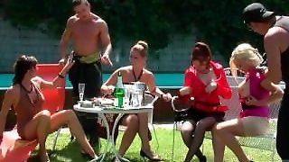 Outdoor Orgy With Hoes Posing