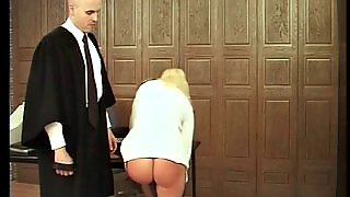 Spanking, Blonde, Fetish, Sexy, Uniform