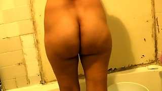 Mexican In The Shower Ready To Be Fucked.