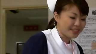 Super Sexy Japanese Nurses Sucking Part1