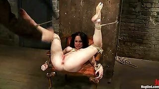 Tied Up On Chair Babe Feet Caned