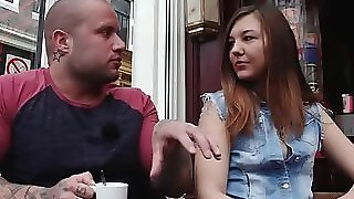 Girl Gives Hand And Blowjob