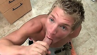 Muscled Blond Sucks And Fucks Gay Porn