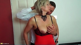 Big Tits Mature In Sexy Lingerie Sucks Dick