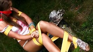 Naughty Girl Tied And Fucked By Panda