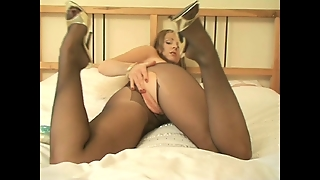 Claire In Pantyhose And Her Vibrator